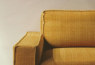 yellow couch after an upholstery cleaning in fresno ca