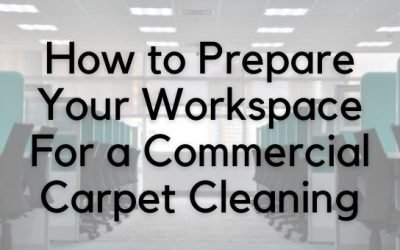 How to Prepare Your Workspace For a Commercial Carpet Cleaning